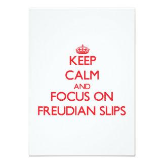 Keep Calm and focus on Freudian Slips Custom Invitation