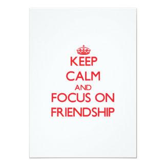 Keep Calm and focus on Friendship Custom Invitation