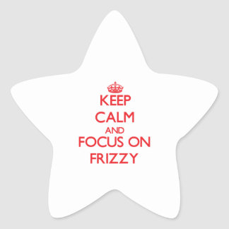 Keep Calm and focus on Frizzy Stickers