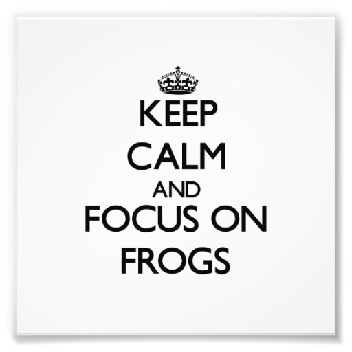 Keep Calm and focus on Frogs Art Photo