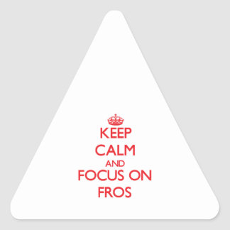 Keep Calm and focus on Fros Sticker