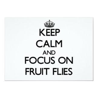 "Keep Calm and focus on Fruit Flies 5"" X 7"" Invitation Card"