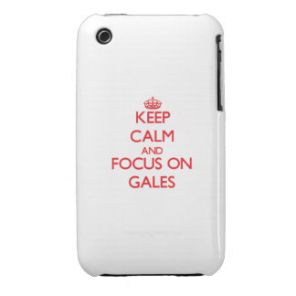 Keep Calm and focus on Gales Case-Mate iPhone 3 Cases