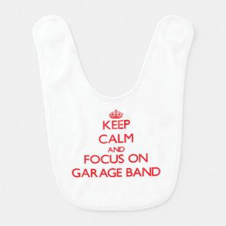 Keep Calm and focus on Garage Band Baby Bib