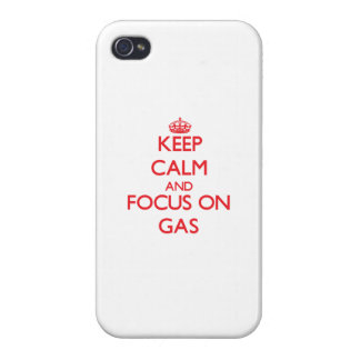 Keep Calm and focus on Gas iPhone 4 Case