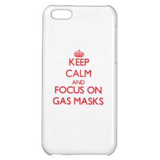 Keep Calm and focus on Gas Masks iPhone 5C Cases