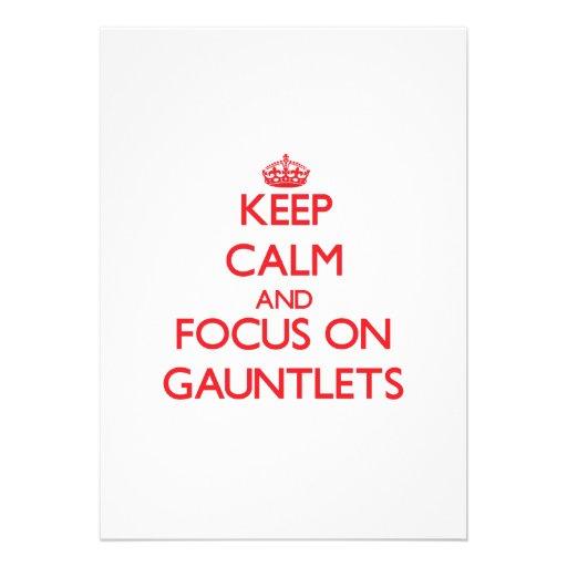 Keep Calm and focus on Gauntlets Custom Invite