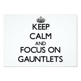Keep Calm and focus on Gauntlets 13 Cm X 18 Cm Invitation Card