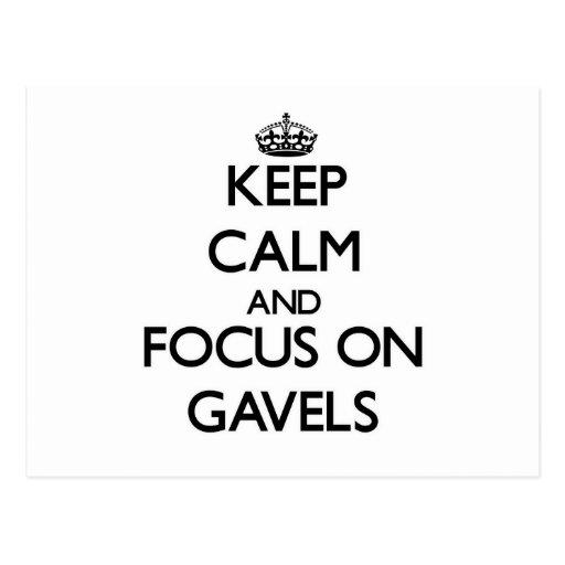 Keep Calm and focus on Gavels Postcard