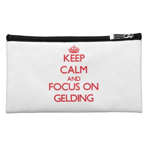 Keep Calm and focus on Gelding Makeup Bags