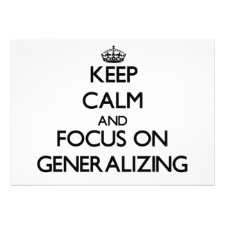 Keep Calm and focus on Generalizing Personalized Invitations