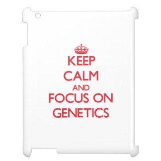 Keep Calm and focus on Genetics iPad Case