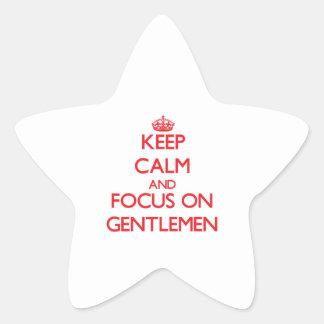 Keep Calm and focus on Gentlemen Sticker