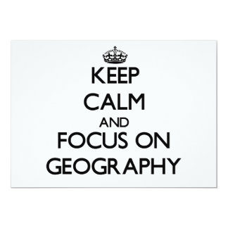 Keep Calm and focus on Geography Announcements