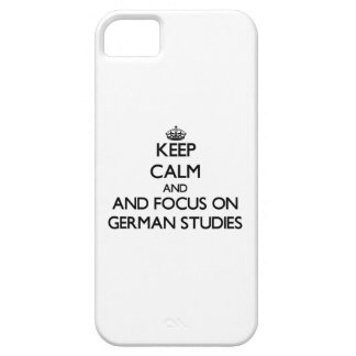 Keep calm and focus on German Studies iPhone 5 Covers