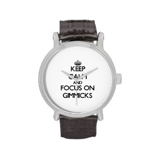 Keep Calm and focus on Gimmicks Wrist Watches