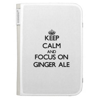 Keep Calm and focus on Ginger Ale Kindle Cover