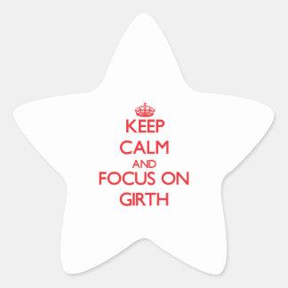 Keep Calm and focus on Girth Sticker