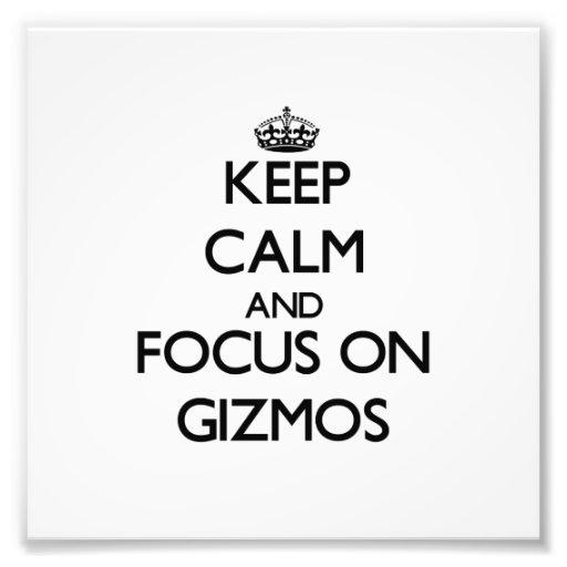 Keep Calm and focus on Gizmos Photo Art