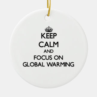Keep Calm and focus on Global Warming Ornament