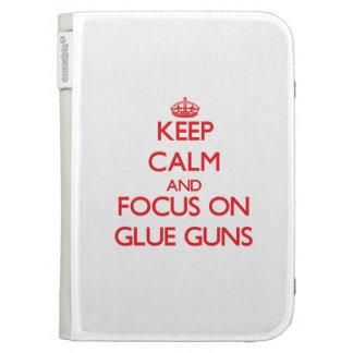Keep Calm and focus on Glue Guns Kindle Folio Case