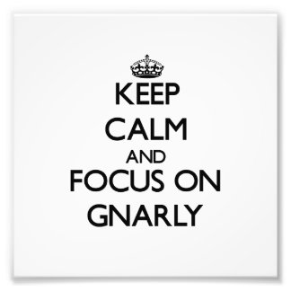 Keep Calm and focus on Gnarly Photo Print