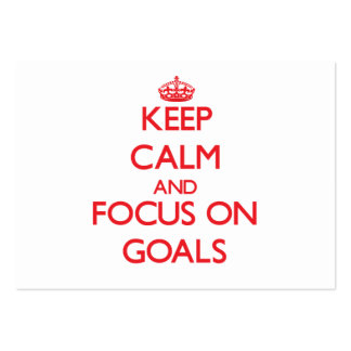 Keep Calm and focus on Goals Business Card Template