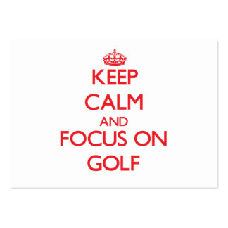 Keep Calm and focus on Golf Business Card