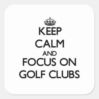 Keep Calm and focus on Golf Clubs Sticker