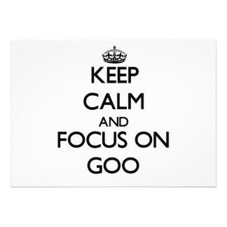 Keep Calm and focus on Goo Custom Invite