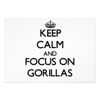 Keep Calm and focus on Gorillas Announcement