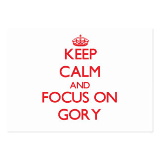 Keep Calm and focus on Gory Business Card