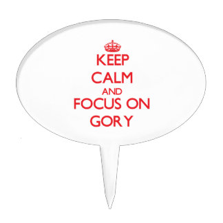 Keep Calm and focus on Gory Cake Picks
