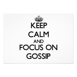 Keep Calm and focus on Gossip Invitations
