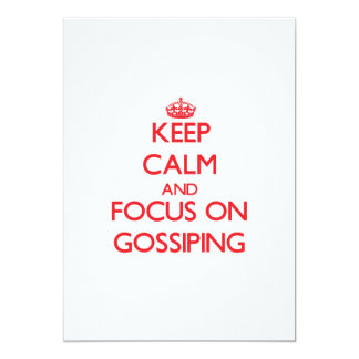 Keep Calm and focus on Gossiping Personalized Invite