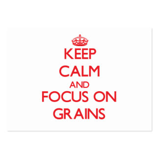 Keep Calm and focus on Grains Business Card