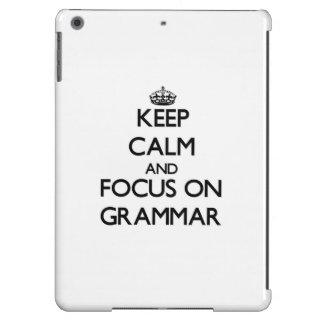 Keep Calm and focus on Grammar iPad Air Case