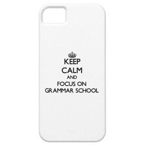 Keep Calm and focus on Grammar School iPhone 5/5S Case
