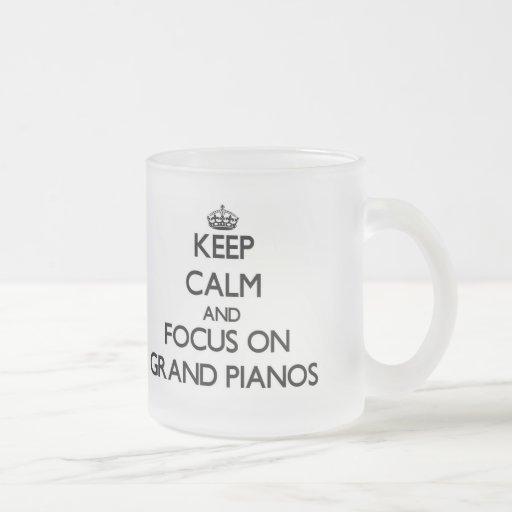 Keep Calm and focus on Grand Pianos Coffee Mugs