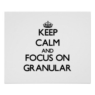 Keep Calm and focus on Granular Posters