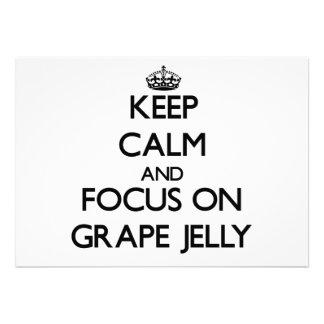 Keep Calm and focus on Grape Jelly Cards