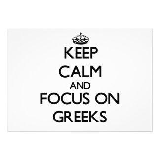 Keep Calm and focus on Greeks Custom Announcement