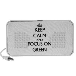 Keep Calm and focus on Green iPhone Speakers
