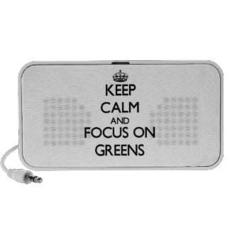 Keep Calm and focus on Greens PC Speakers