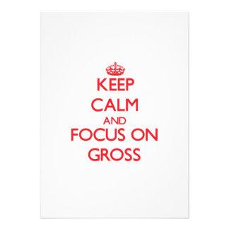 Keep Calm and focus on Gross Announcement