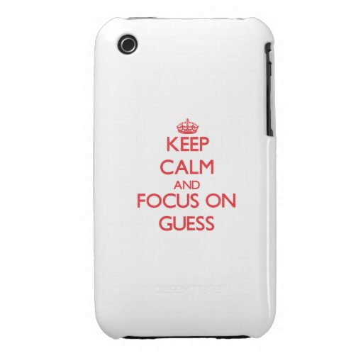 Keep Calm and focus on Guess iPhone 3 Case-Mate Case