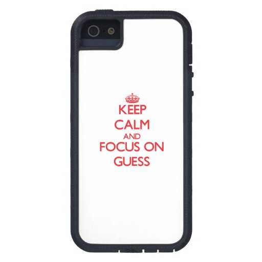 Keep Calm and focus on Guess Case For iPhone 5