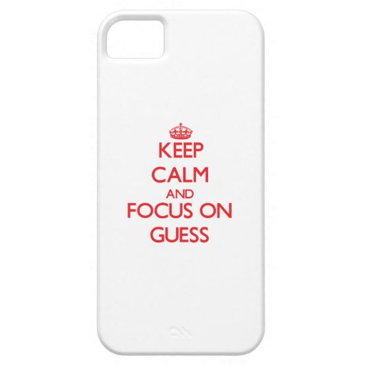 Keep Calm and focus on Guess iPhone 5/5S Cover