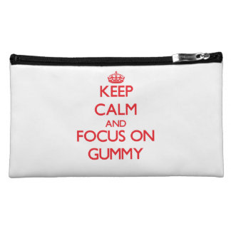 Keep Calm and focus on Gummy Cosmetics Bags
