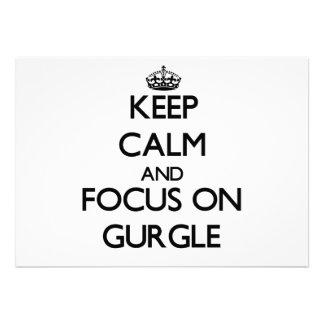 Keep Calm and focus on Gurgle Card